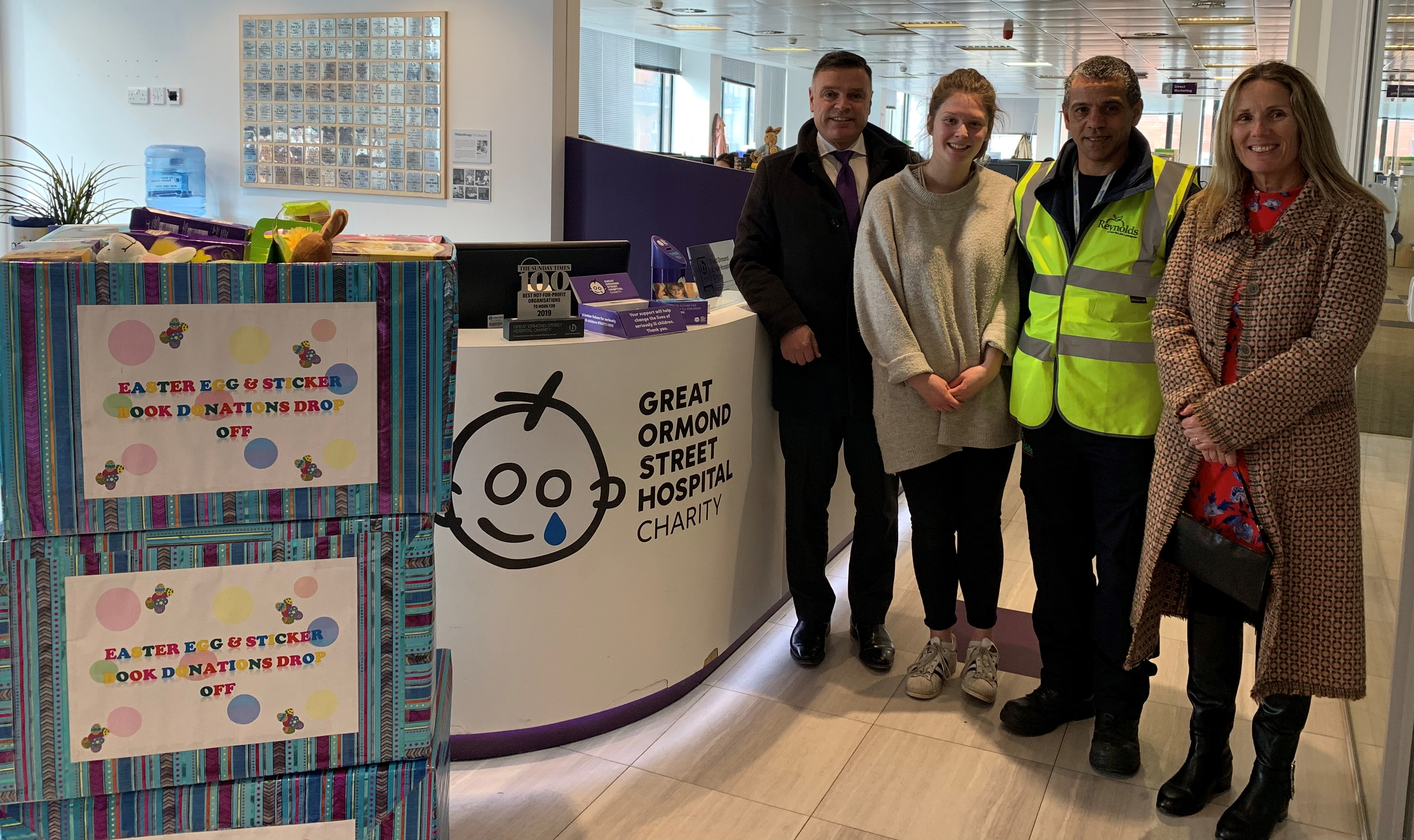 Reynolds delivers Easter treats to GOSH Charity